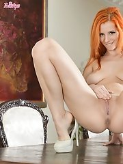 Ariel enjoys masturbating on top of the table